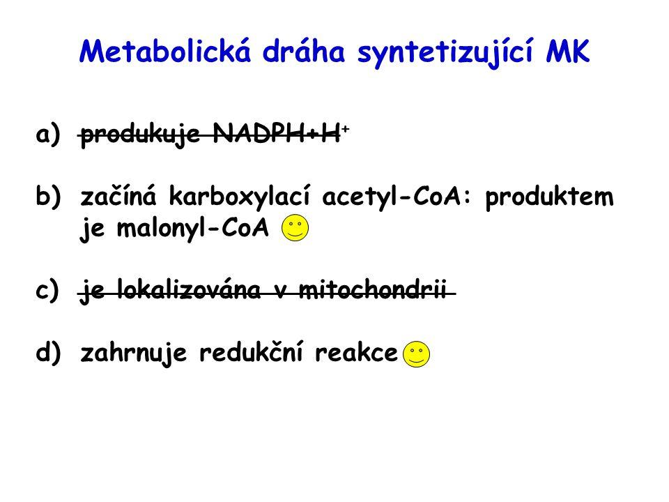 syntéza  - oxidace nejvyšší zapojenípři vysokém příjmu sacharidů při hladovění poměr inzulín/glukagonvysokýnízký tkáň s nejvyšší aktivitoujátrasvaly, játra lokalizace v buňcecytoplazmamitochondrie přenos přes mitoch.