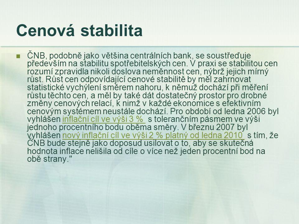 Operace na volném trhu Cílem operací na volném trhu je usměrňovat vývoj úrokových sazeb v ekonomice.