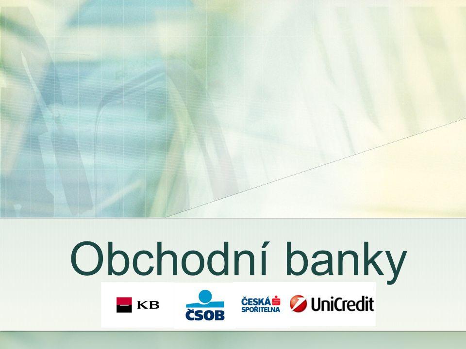Můžeme je členit skupin podle různých hledisek: a) velikosti základního kapitálu (velké, střední, malé) b) typu bankovní licence (univerzální, specializované) c) služeb d) právního postavení