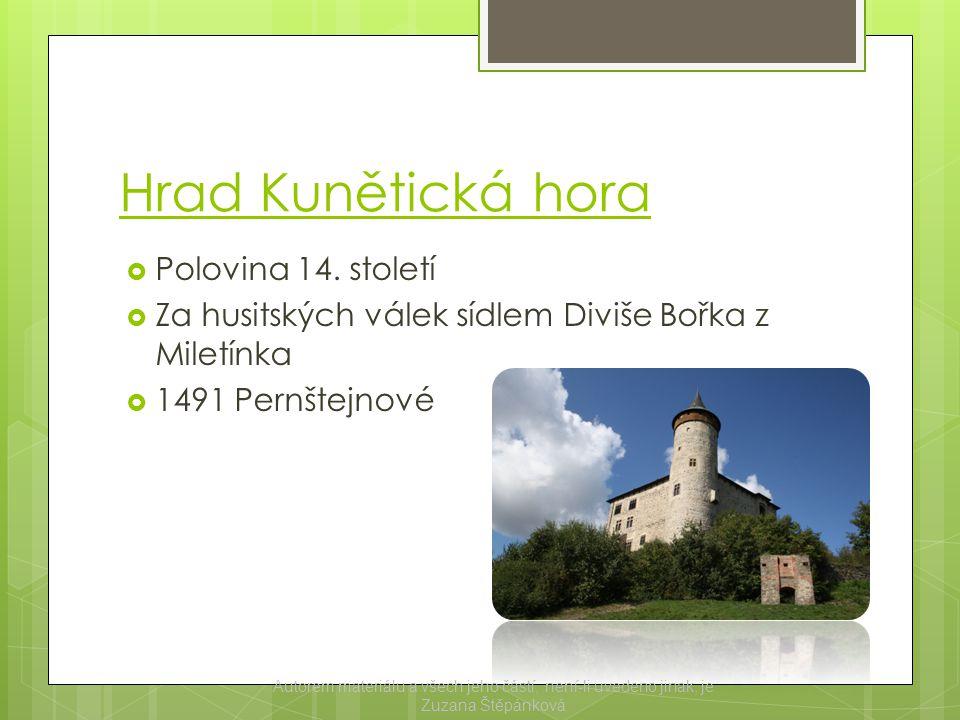 Pardubický zámek  Renesanční zámek  Na místě dnešního zámku stál původně od 13.