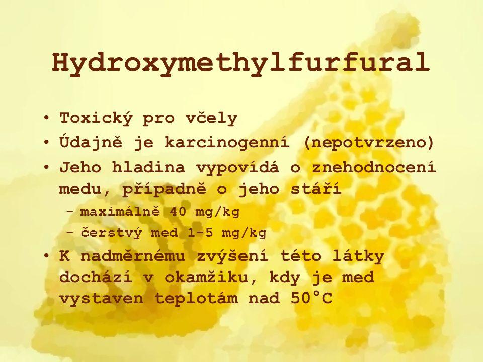 Hydroxymethylfurfural Vzorec C 6 H 6 O 3 Vzniká dehydratací fruktózy