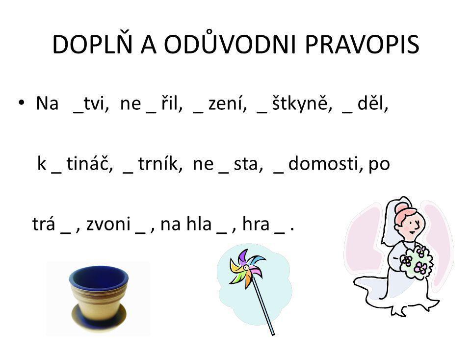 SLABIKA MĚ Ve slabice MĚ vyslovujeme hlásky /m-ň-e/, ale píšeme jen MĚ.