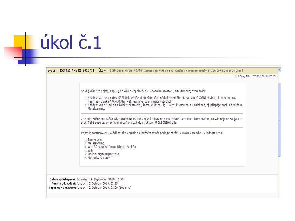 V rámci úkolu jsem nastudovala všechny pojmy a vytvořila jsem svou osobní stránku ke každému pojmu, také jsem přispěla na společnou stránku Dig-I-Portu.