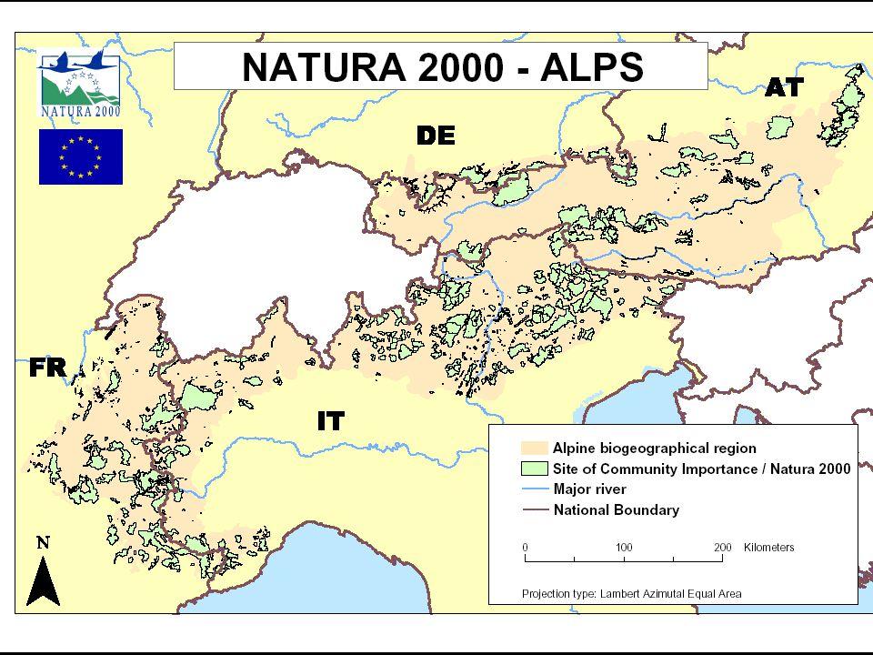 Stav příprav SCI (EVL) v EU15 (tzv. Natura 2000 Barometer, k 5. 7. 2004)