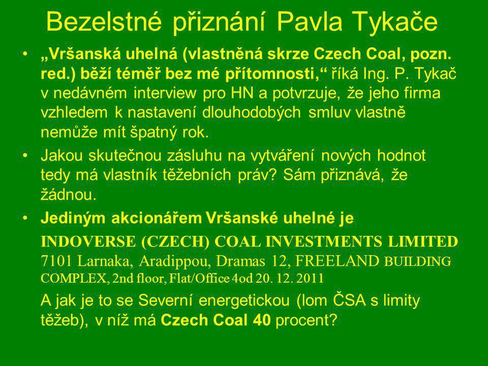 Lom ČSA a prolomení limitů těžeb Nečekaně rezervovaně se jeden z nejbohatších Čechů vyjadřuje k otázce prolomení územních limitů.