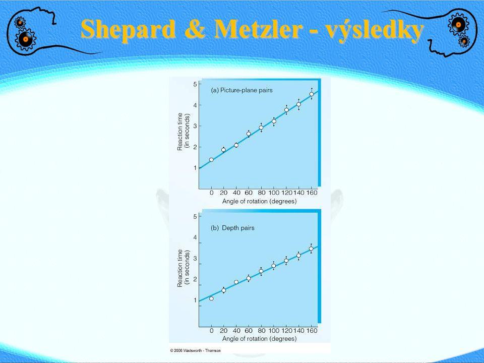 Hypotéza funkční ekvivalence Poprvé navržena Shepardem a Kosslynem Mentální představy jsou interní reprezentace které fungují na analogických principech, jakým funguje vnímání objektů v externím prostředí.