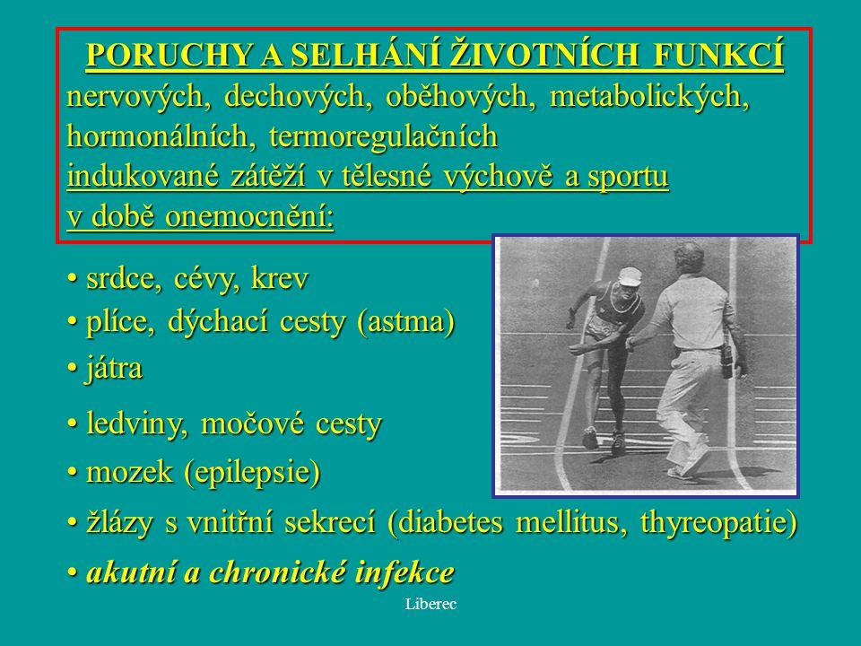 Liberec Náhlá srdeční smrt při sportu na univerzitách Prevalence: 1/200 000 VŠ studentů v 1 akademickém roce (B.