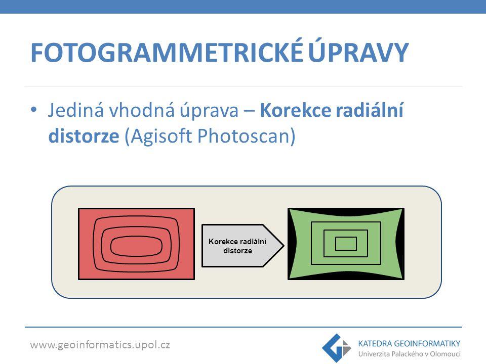 www.geoinformatics.upol.cz KOREKCE RADIÁLNÍ DISTORZE Snímky před a po opravě