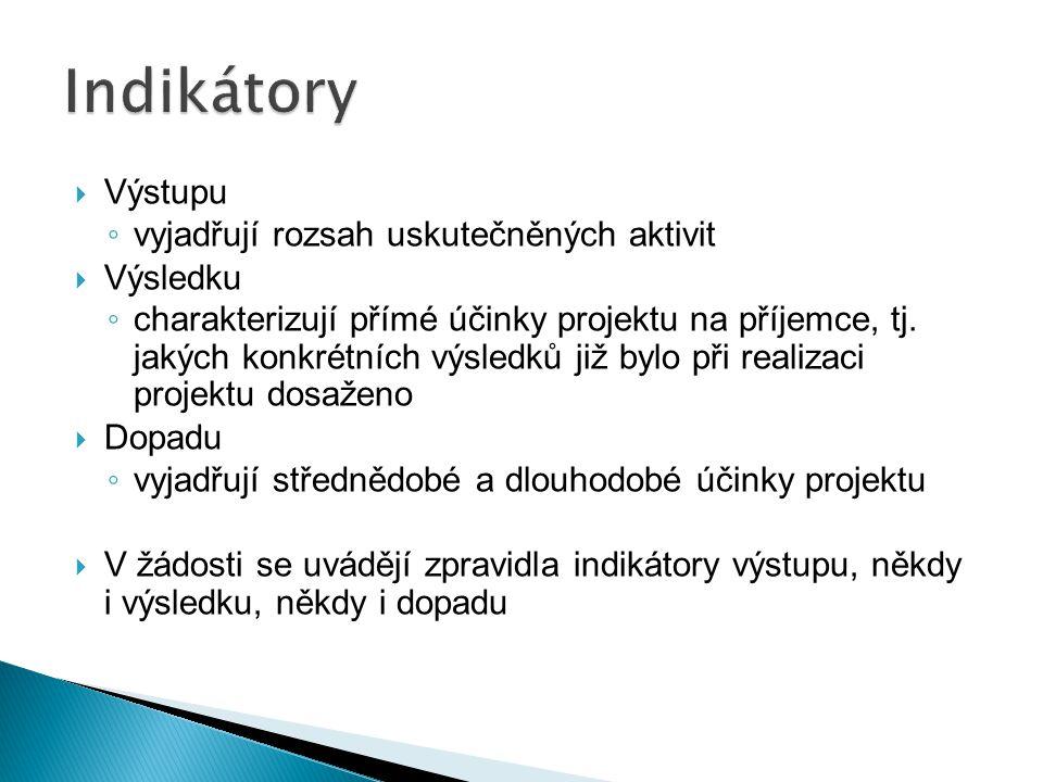  Projektový manažer/ka, koordinátor/ka  (Odborný garant/ka)  Finanční manažer/ka  Asistent/ka, Administrátor/ka  Účetní  Výkonný pracovník/ce  Dodavatel