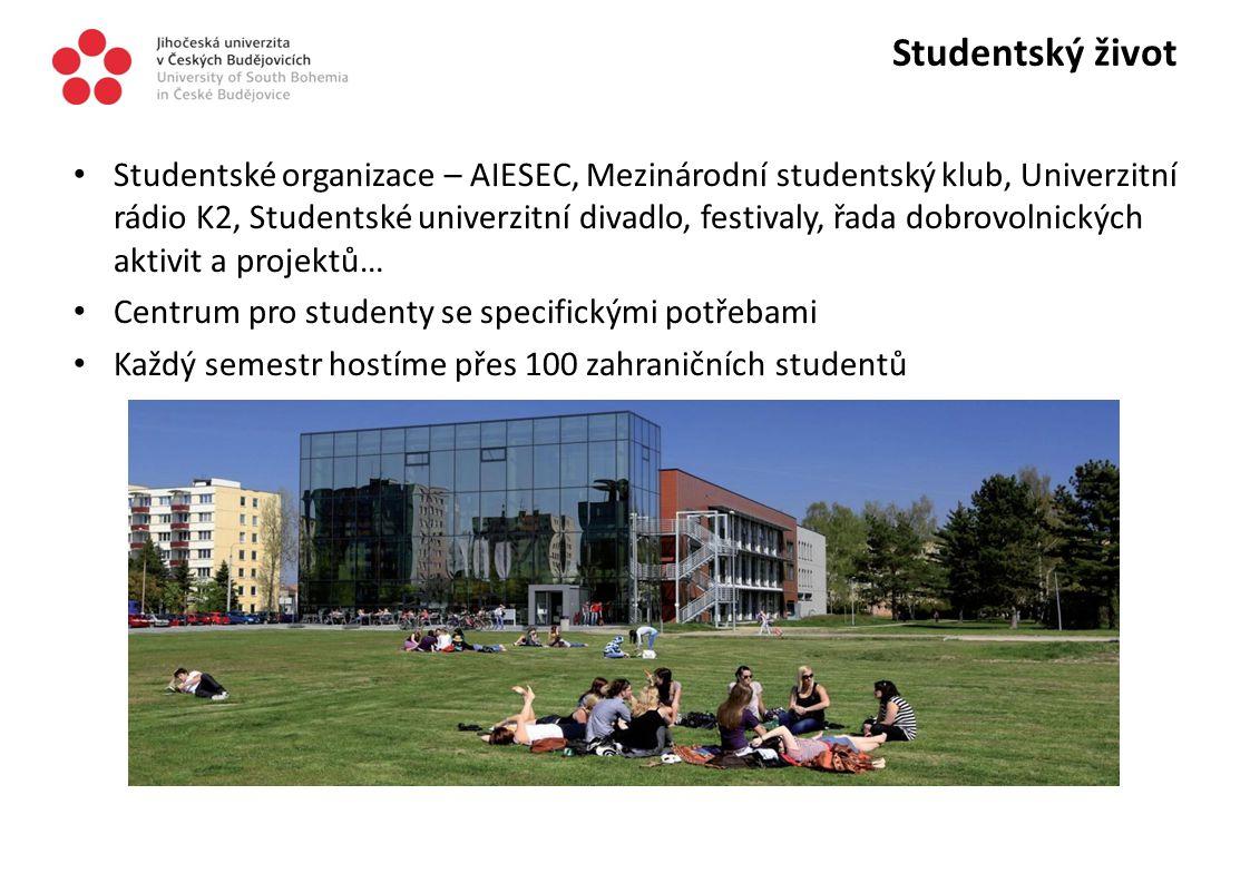 Kampus Univerzitní kampus v klidové zóně s návazností na městský park Moderní knihovna, koleje, menza a sportoviště Plánujeme výstavbu studentského klubu a univerzitní školky