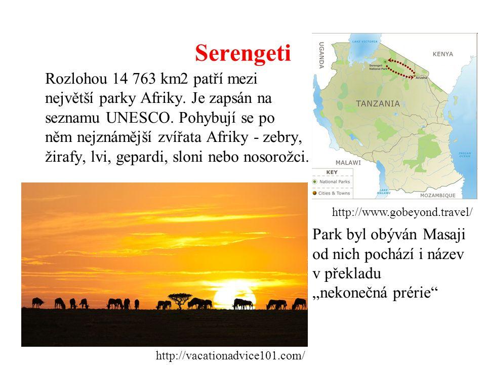 Ngorongoro Park Ngorongoro je v a kolem kaldery vyhaslého vulkánu.
