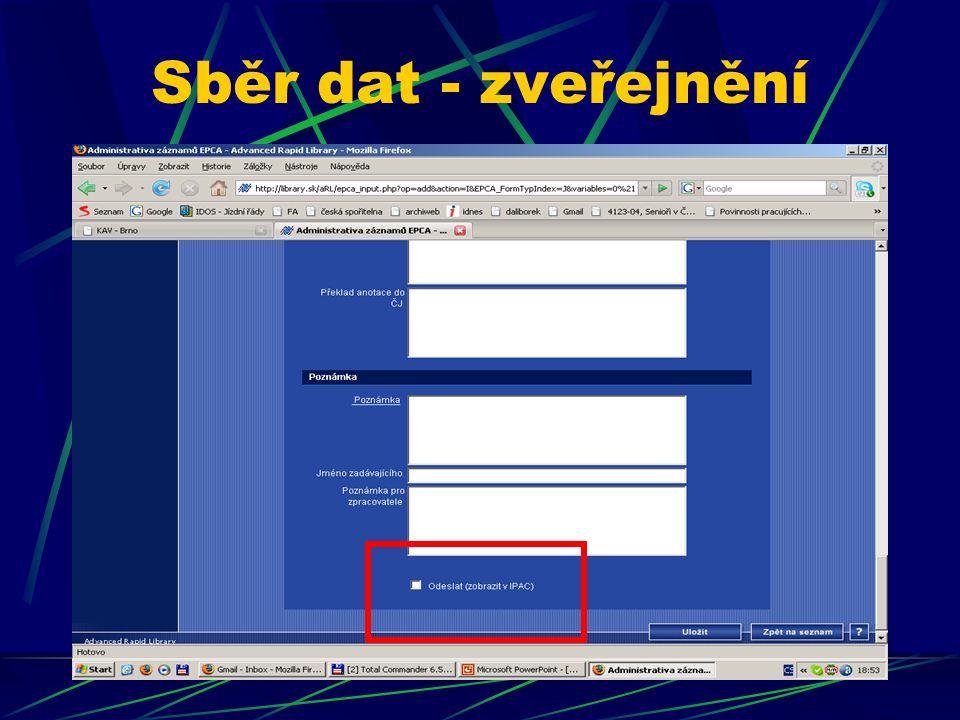 Kdo jsou uživatelé katalogu.Zapojení analýzy od 1.3.2007.