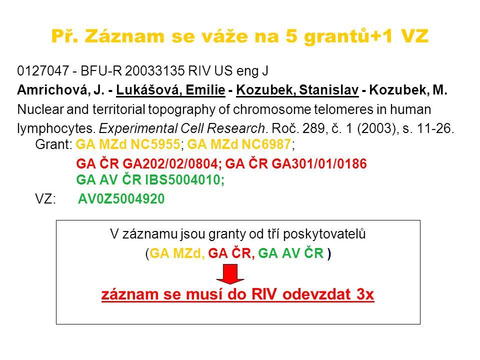 Záznam v RIV