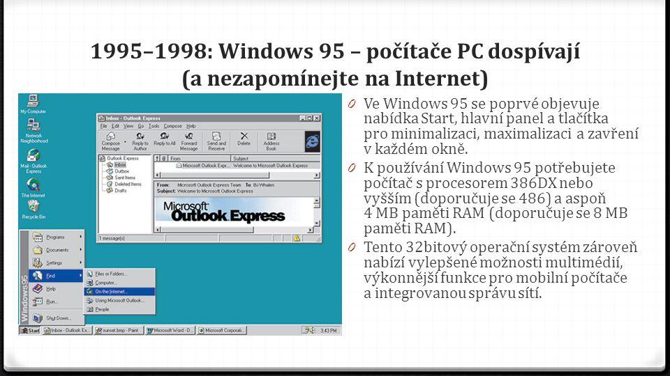 1998–2000: Windows 98, Windows 2000, Windows Me Systém Windows se zaměřuje na práci a hraní 0 25.