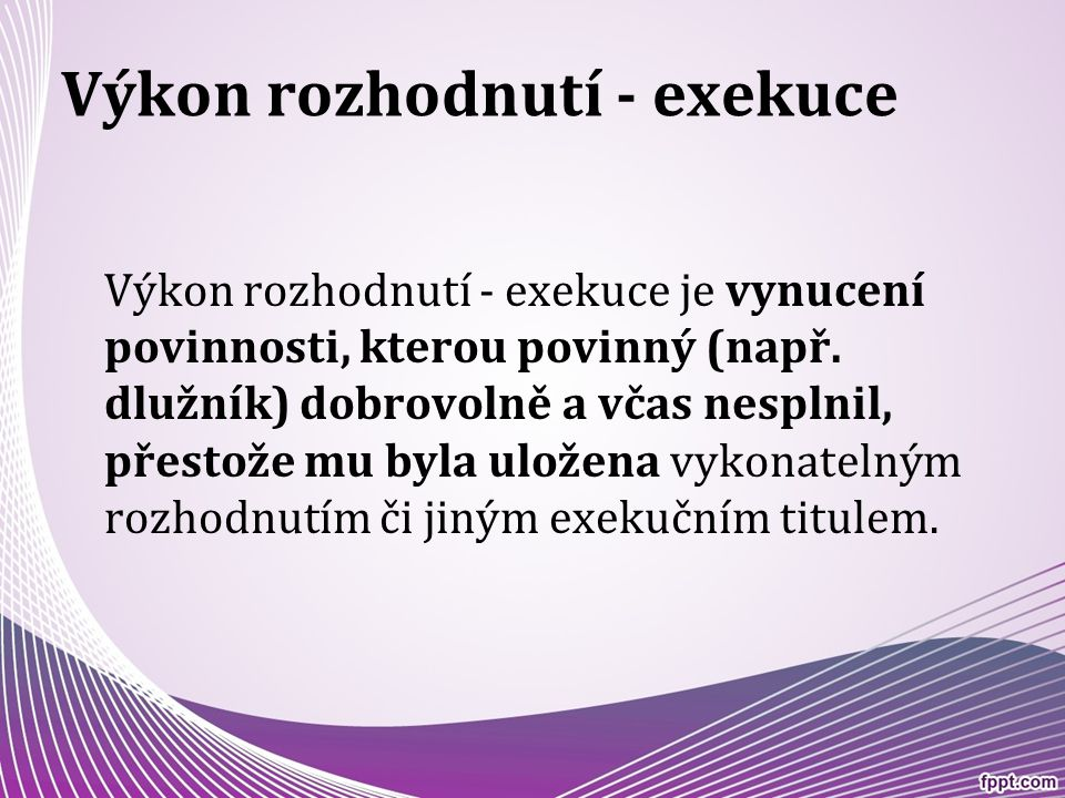 Druhy exekuce v ČR