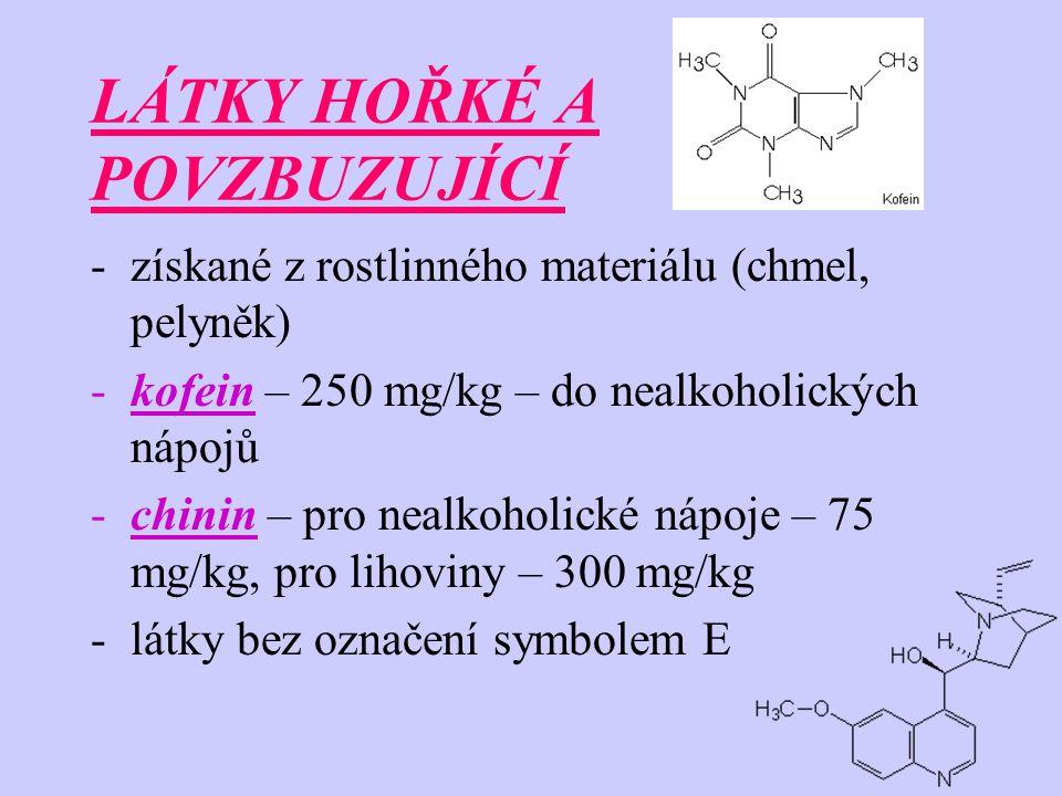 INTENZIFIKÁTORY AROMA -zvláštní význam má kyselina glutamová a její sůl -tato látka má vlastní chuť, která se nazývá UMAMI -koncentrace 0,05 – 0,8% - aditivum v masových a zeleninových výrobcích (polévky, omáčky, masové a zeleninové konzervy, šťáva z rajčat, kečupy, majonéza, dresingy,...)