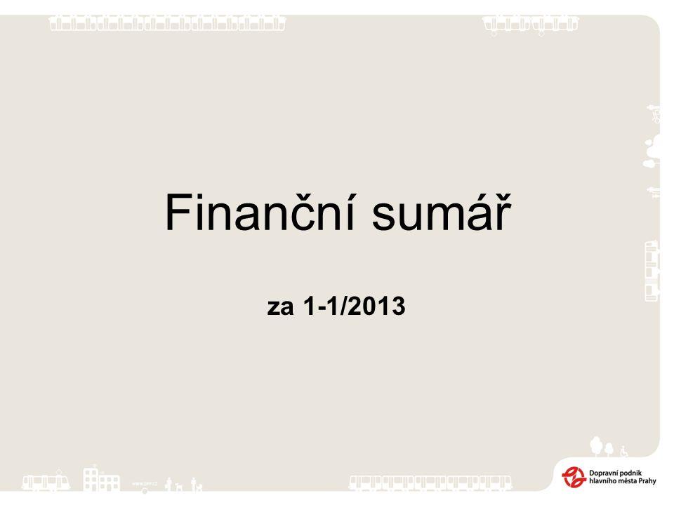 Výsledek hospodaření za období 1-1/2013 Za hodnocené období bylo dosaženo zisku ve výši 23 219 tis.
