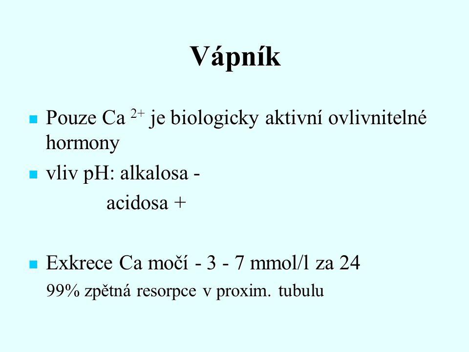 Fosfor Obsah P v těle - 1000 g - 85% kost Obsah P v těle - 1000 g - 85% kost Anorganický P v séru ve směsi aniontů Anorganický P v séru ve směsi aniontů Organický P - metabolické děje - fosforylace proteinů (makroergní vazby) Organický P - metabolické děje - fosforylace proteinů (makroergní vazby) Koncentrace anorg.