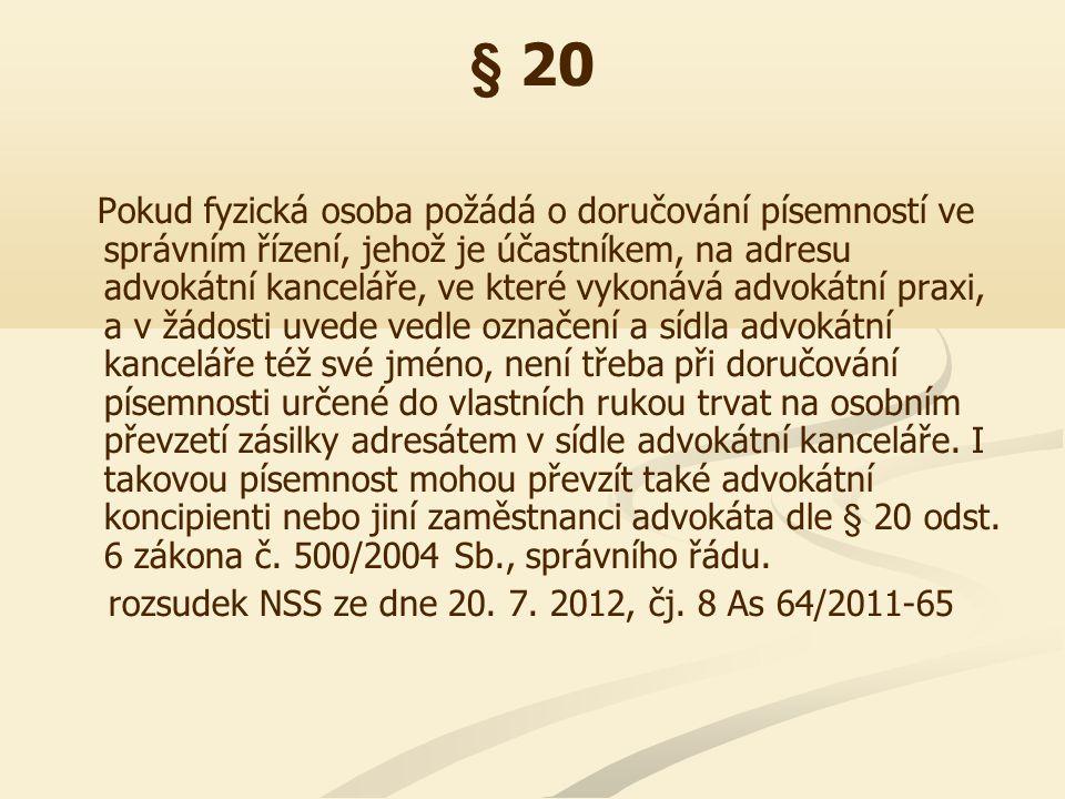 § 24 II.Doručení správního rozhodnutí podle § 24 odst.