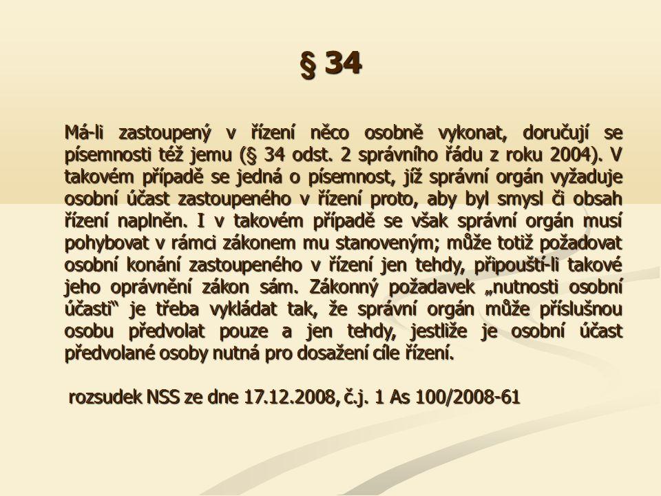 § 37 Nemá-li odvolání některou z náležitostí vyplývajících z § 37 odst.