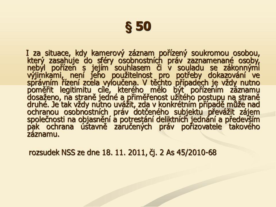 § 50 I.