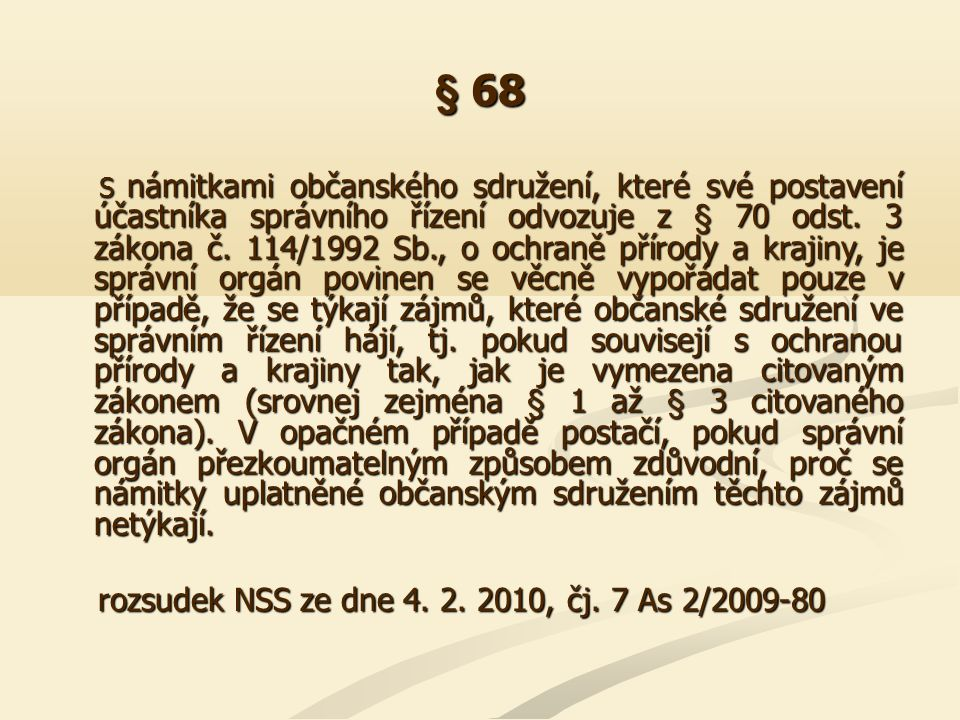 § 68 Z § 68 odst.