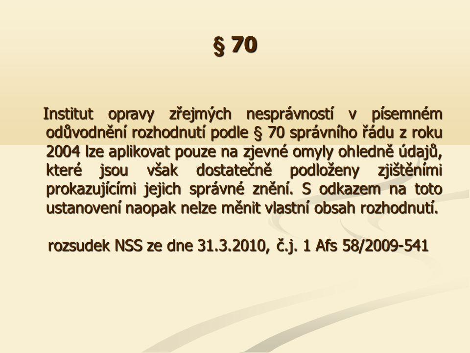 § 72 I.Oznámení správního rozhodnutí ve smyslu § 72 odst.