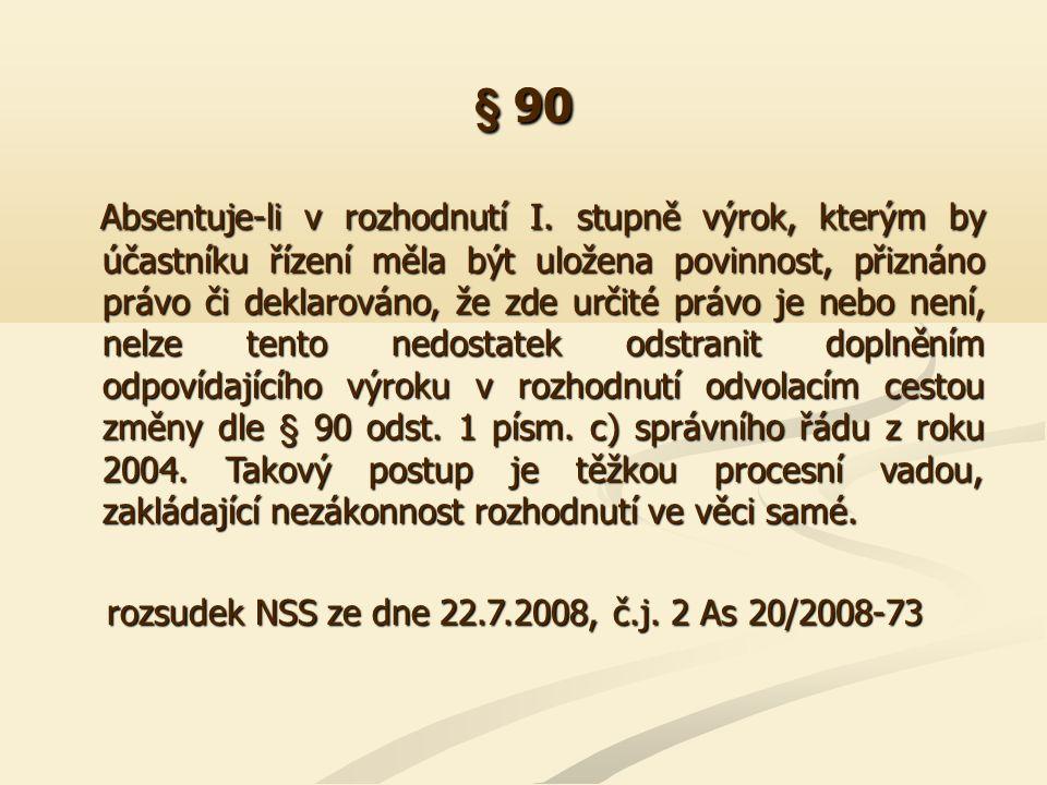 § 97 Podmínka stanovená v § 97 odst.