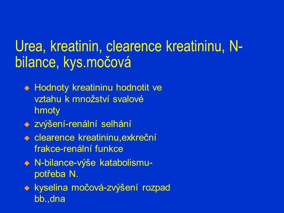 bilirubin, ALT, AST, GMT, ALP, LD, amoniak, amylasa, lipáza  Bilirubín konjugovaný, nekonjugovaný  zvýšení-novorozenecká hyperbilirubinémie, masivní krevní převody, hepatocelulární poškození /léky, zánět, hypoperfuze, nekróza/,obstrukce- intra,extrahepatální