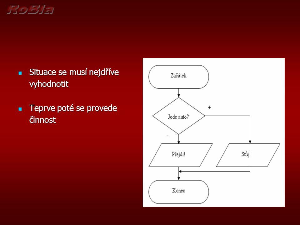 Příklad (5) Vytvořte algoritmus pro výpočet výrazu tak, aby se výpočet alespoň jednou uskutečnil.