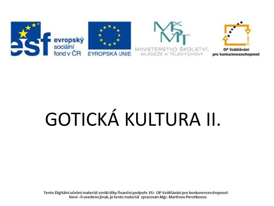 Gotická kultura II.12.-15.