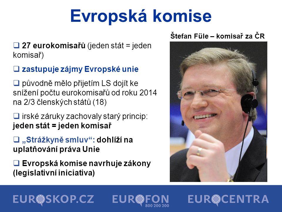 Složení Evropské komise 2010 - 2014 José Manuel Barroso předseda EK Catherine Asthon (Velká Británie) Vysoká představitelka Unie pro zahraniční věci a bezpečnostní politiku