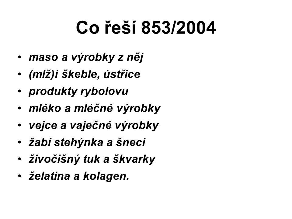 Požadavky na prostory a vybavení z 853/2004 1.