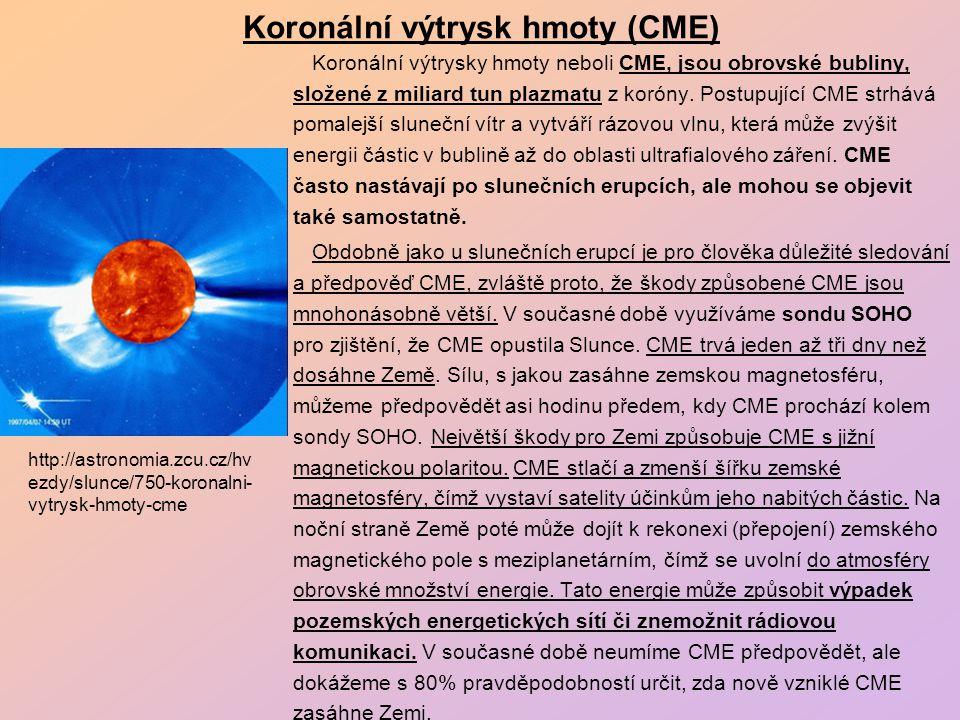 "Sluneční vítr a zemská magnetosféra ""SOHO (ESA a NASA) : http://sohowww.nascom.nasa.gov/gallery/Movies/animations.html"
