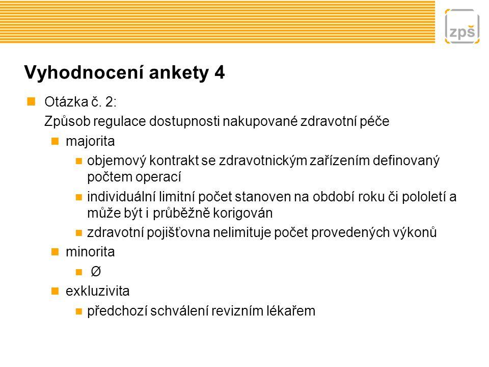Vyhodnocení ankety 5 Otázka č.
