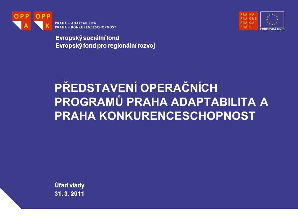 WWW.OPPA.CZ   WWW.OPPK.CZ 2 PRAHA A EU  Praha díky výši HDP čerpá prostředky z fondů EU narozdíl od zbytku ČR v Cíli 2: Regionální konkurenceschopnost a zaměstnanost.