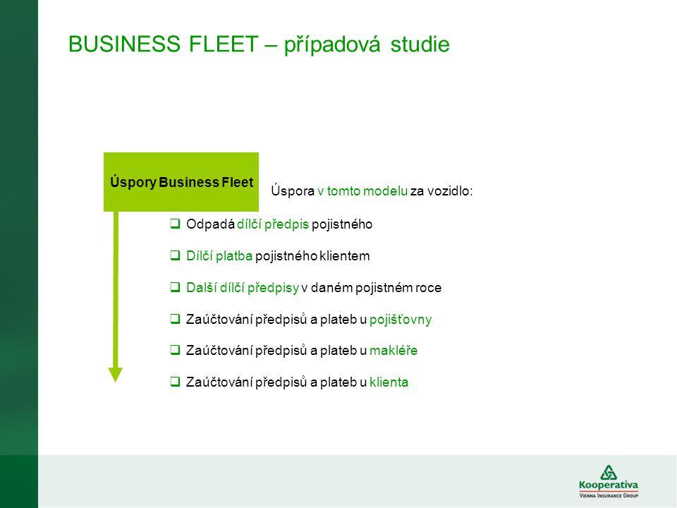 BUSINESS FLEET v roce 2008  V roce 2008 bylo zapojeno do programu BUSINESS FLEET celkem 37 flotil s předepsaným pojistným cca 61 mil.
