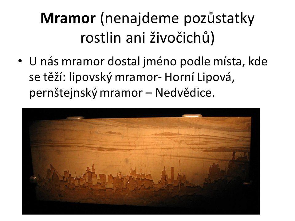 Mramor – materiál pro sochaře, stavební materiál.