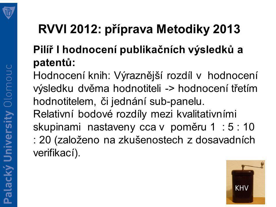 Návrh Metodiky 2013 Pilíř II.