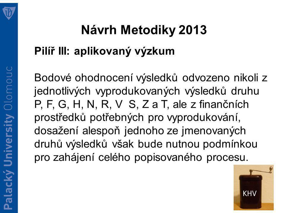 IPN Metodika Cíl: vytvořit návrh nového systému hodnocení a financování VaVaI z veřejných prostředků.