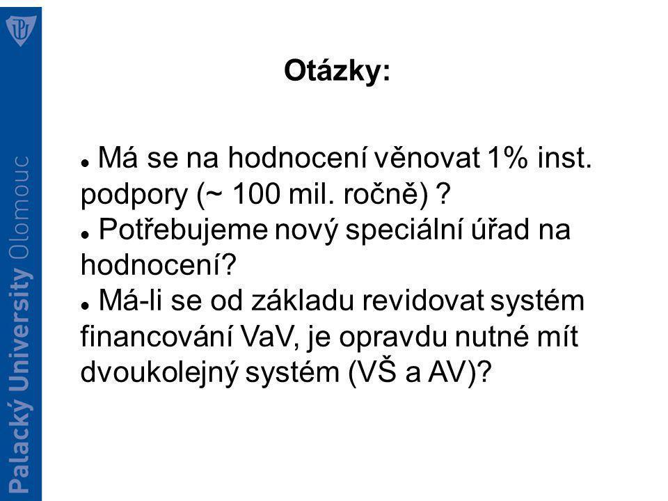 Otazníky KA3 Vytvoření systému financování: Analýza stavu VaVaI v ČR 2012