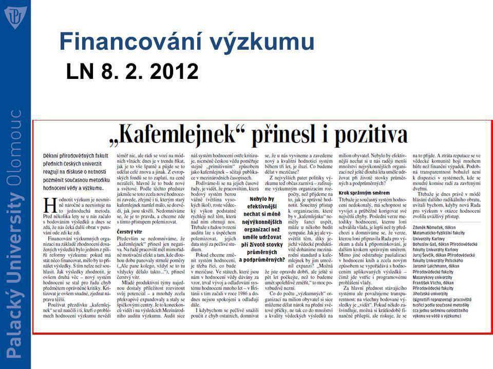 Financování výzkumu Stanovisko AV ČR k opakovanému využívání Metodiky hodnocení výsledků VaVaI (tzv.