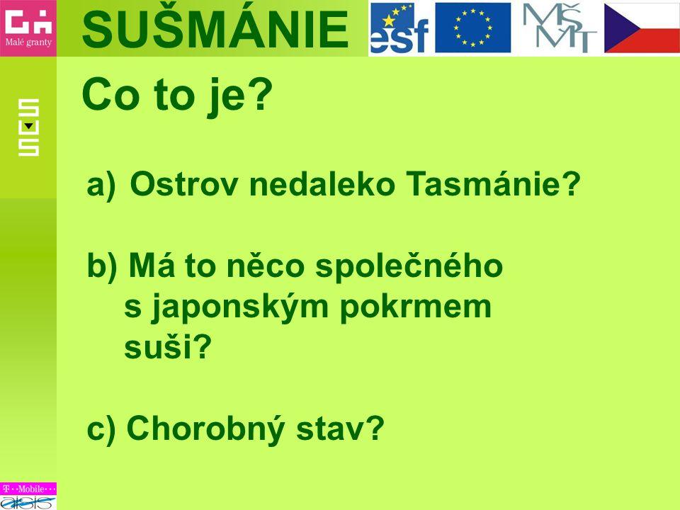SUŠMÁNIE NE!!.