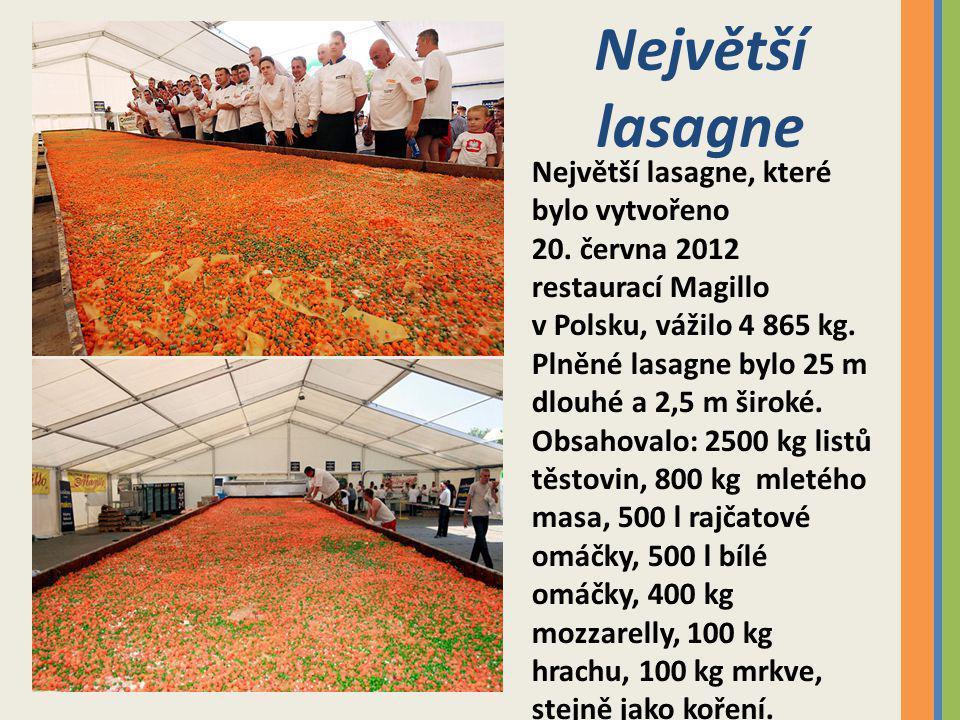 Největší salát Největší salát vážil 19 050 kg a byl vytvořen v Bukurešti v Rumunsku 23.