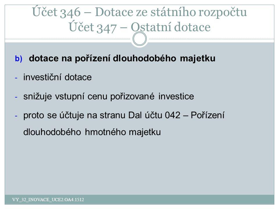Otázky VY_32_INOVACE_UCE2.OA4.1512 1.Ve které účtové skupině evidujeme Zúčtování daní a dotací.