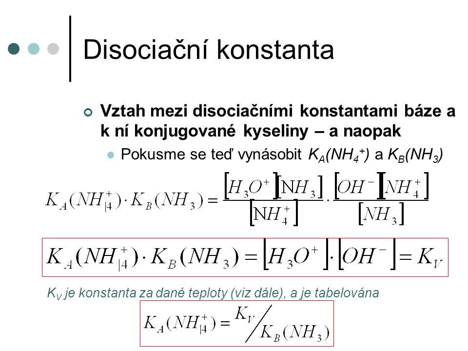 Disociační stupeň Zavedl Arrhenius, jde o obdobu stupně konverze Značí se  Udává frakci, která se z každého molu elektrolytu rozštěpí na ionty, např.