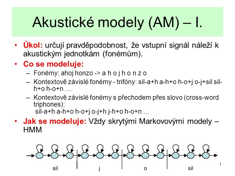 9 Akustické modely (AM) – II.
