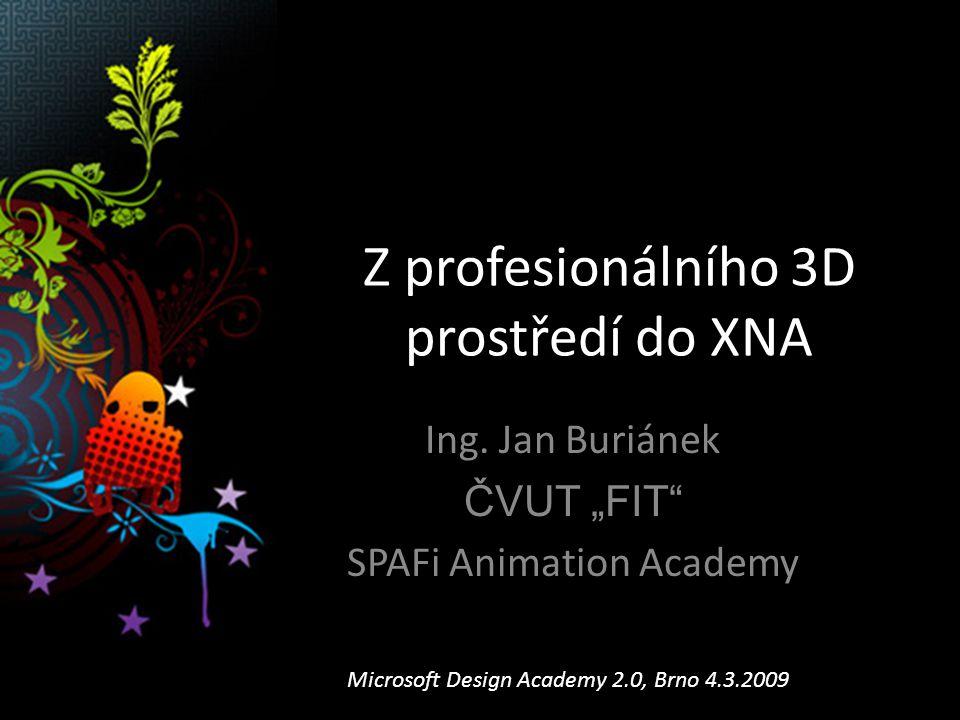 Obsah prezentace Úvod XNA Xbox360 Live.