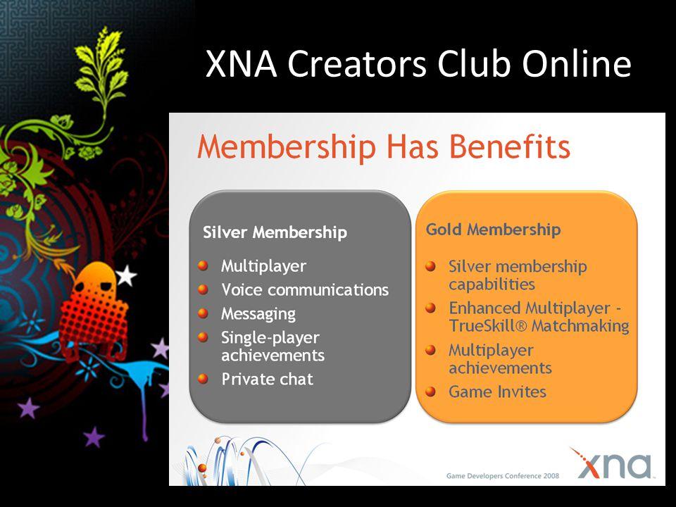 XNA Creators Club Online specifické akce vs.členství Pro Xbox360 Live.