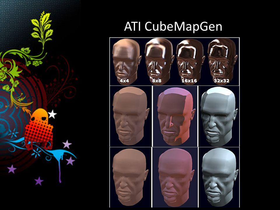 Nástroje pro tvorbu real-time shaderů / materiálů ATI RenderMonkey Autodesk Maya – real-time shadery v Cg Autodesk 3DS MAX – real-time viewport Autodesk Softimage|XSI Autodesk Softimage XSI ModTool – RenderTree Real-Time 3D nodes – Podpora FX, HLSL i Cg Microsoft Caligari trueSpace – DirectX 9 materiály